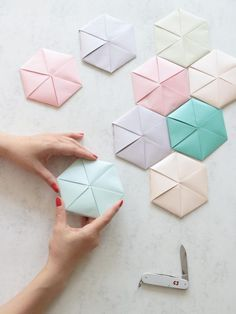 Learn how to fold an elegant geometric card from a copy paper. This video tutorial is created by artist Coco Sato for Victorinox.