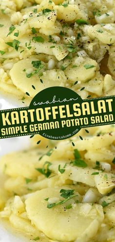 Looking for more potato side dishes? Learn how to make Swabian Kartoffelsalat! Marinated in rich, delicious flavor and finished off with fresh parsley, this simple German potato salad recipe is perfect for your dinner ideas! Easy Potato Recipes, Easy Delicious Recipes, Easy Salad Recipes, Side Dish Recipes, Healthy Dinner Recipes, Cabbage Recipes, Tasty, Potato Side Dishes, Vegetable Side Dishes