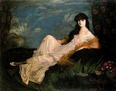 Ignacio Zuloaga y Zabaleta - Portrait de la comtesse Anna de Noailles (1913)  Expo L'Espagne entre deux siècles
