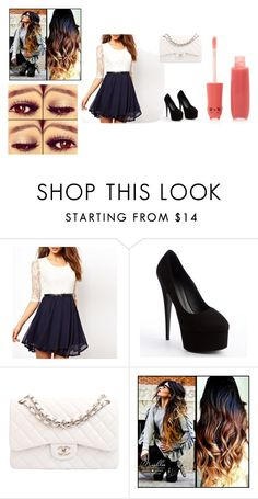 """:)"" by smileyrocks ❤ liked on Polyvore featuring beauty, Giuseppe Zanotti, Chanel and Forever 21"