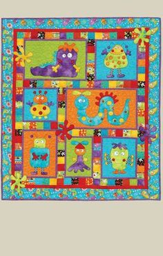I love this little monster quilt from 'Kids Quilts NZ