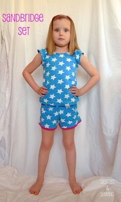 Sandbridge Set by Siestas and Sewing. FREE Tute and pattern size 5/6