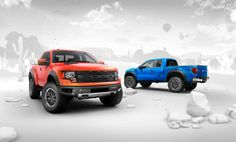 Completely CGi Ford Raptors and environment