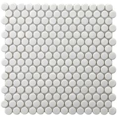 SomerTile 11.5x11.5-in Victorian Penny 3/4-in White Porcelain Mosaic Tile (Pack of 10) | Overstock.com