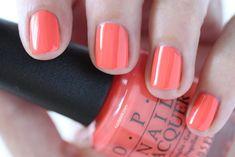 OPI Giveaway - OPI Retro Summer Collection Nail SPF XXX Orange Red Cream Nail Polish