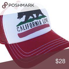Brooklyn Hat Co California Love Trucker Cap Red Brooklyn Hat Co California  Love Trucker Cap Snap ade34c1b50d