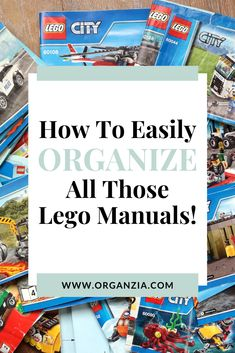 Are you going crazy over Lego manuals taking over your home? Check out how you can easily organize those Lego instruction manuals once and for all! Declutter Your Home, Organizing Your Home, Kids Room Organization, Organization Hacks, Lego Creations Instructions, Lego Room Decor, Lego Bedroom, Kids Storage, Mom Hacks