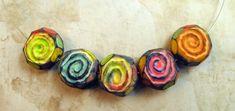 Rustic Rainbow Spirals   Flickr - Photo Sharing!by Margit Bohmer polymer clay