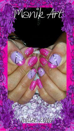 #ongle #nail #nailart #design #original #rose #mauve #pink #purple #summer #été Rose Mauve, Nail Art, Nails, Pink, Painting, Design, Ongles, Finger Nails, Hot Pink