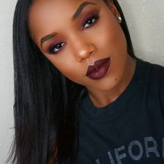 Got a request to film a cranberry look for my channel  Used @meltcosmetics Unseen, Love Sick & Enigma on the eyes. Used @colourpopcosmetics Ellarie lip liner all over with @gerardcosmetics Cherry Cordial lipstick. Couple of clips in the hair from @princesshairshop.