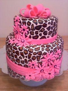 Angela's Cake Creations - Pink Leopard Print Cake