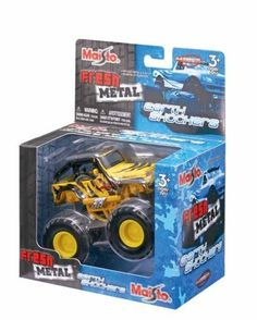 Maisto Fresh Metal Earth Shockers Motorized Monster Truck by Maisto. $14.00. 1:43 Scale. Die Cast Collectible Car. Motorized Die Cast Metal and Plastic Truck. For Ages 3 and up. This is the Fresh Metal Earth Shockers series die cast truck by Maisto. It is part of the Off-Road series. The truck is motorized and recommended for ages 3 and up. It comes in a variety of colors.