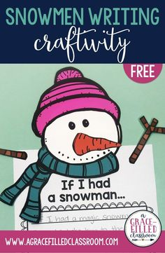 How To Produce Elementary School Much More Enjoyment Free Snowman Writing Craftivity And Writing Pages Planning A Snow Day In Your Classroom? Utilize These Ideas And Craftivity To Have A Successful Snowman Day Winter Activities, Writing Activities, Preschool Activities, Preschool Winter, Writing Ideas, Writing Prompts, Kindergarten Writing, Kindergarten Classroom, Classroom Ideas