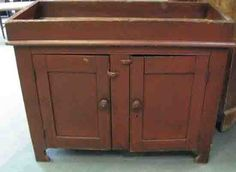 An E 19th C Painted Dry Sink,