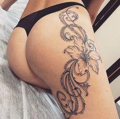 Flower Butt Tattoo
