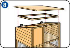 Construire un clapier à lapin - Pose du toit