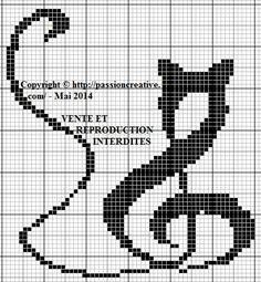 Free cross stitch: Musical Cat