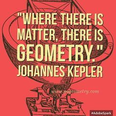 Kepler Gometry Quote Where there is matter Klein Bottle, Johannes Kepler, Math Classroom Decorations, Math Quotes, Secondary School, Mathematics, Awakening, Geometry, Quotations