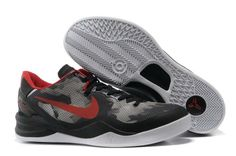 Nike Zoom Kobe 8 Basketball shoes Mesh Grey Black University Red