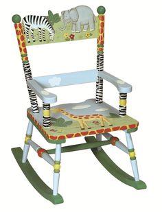 Children's Furniture - Guidecraft Safari themed wooden rocking chair - £89.95