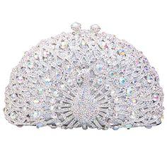Fawziya Bling Hard Case Clutch Purse Luxury Iridescent Rhinestone Crystal Peacock Clutch Handbag (Colorful white) Fawziya http://www.amazon.com/dp/B00MQDIZLK/ref=cm_sw_r_pi_dp_fpgiub1P0318S