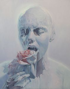 The Rose Eater - Painting by Ivan Alifan