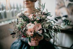 Ranunculus and eucalyptus bouquet Something Borrowed, Something Old, Got Married, Getting Married, Eucalyptus Bouquet, Happy Colors, Ranunculus, Wedding Shoot, Teal Weddings