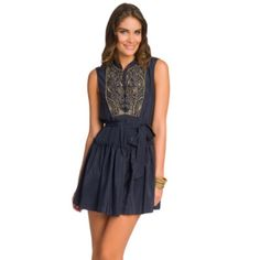 Gryphon Navy Beaded Dress This navy silk Gryphon beaded dress is gorgeous and a perfect addition to you wardrobe. (It's the same dress renting at Rent the Runway) RUNS SMALL Gryphon Dresses Mini