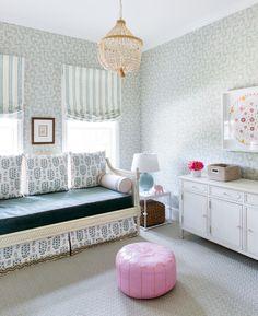 Kristin Gish Home Tour: Colorful Wallpaper Bungalow in Austin, Texas...Tilton Fenwick avail at the design studio.