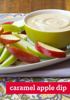 Caramel Apple Dip – Cream cheese, brown sugar and vanilla make this creamy caramel dip a scrumptious way to eat apples, pretzels, cookies and more.