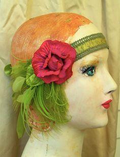 gibson girl  flapper art nouveau headband by owllamode on Etsy, $67.00