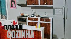 Tutorial Barbie  - Como fazer uma COZINHA para sua Barbie, Monster High,...
