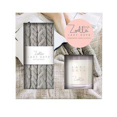 Zoella Socks & Candle Set - Lazy Days Gift Set