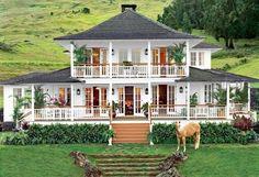 Hawaiian Farmhouse- Oprah's Hawaii house is set against the slopes of Mount Haleakala in Kula, on the island of Maui.