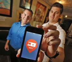 """Truck It Co-Founders Josh DeLozier, left and Travis Stephens in Oklahoma City, Thursday August 21, 2014. """"Truck It"""" is a new food truck App. to locate food trucks in the metro area. Photo By Steve Gooch, The Oklahoman"""