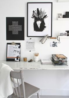 4 styling ideas for offices....BODIE and FOU★ Le Blog: Inspiring Interior Design blog by two French sisters