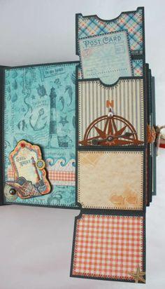 Twag Cathy 8x8 by The Sea Stitched Premade Scrapbook Album Interactive | eBay