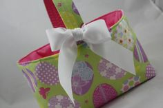 Easter Eggs Fabric Bin Basket Container