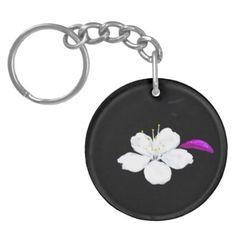 Sailing Sakura Keychain - white gifts elegant diy gift ideas