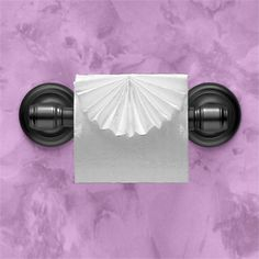 """""""FAN"""" ~ Instructions in """"Toilet Paper Origami: Delight Your Guests with Fancy Folds and Simple Surface Embellishments"""" by Linda Wright ♦ http://www.amazon.com/dp/0980092310/"""