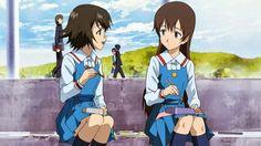 Isurugi Noe e Yuasa Hiromi. If you want a short and sad anime you should watch true tears! It's 13 episodes long!