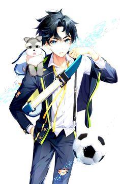 Soccer spirits Anime Oc, Anime Guys, Spirit Game, Soccer Boys, Soccer Sports, Anime Warrior, Spirited Art, Sports Art, School Boy