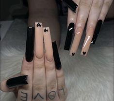 Long Square Acrylic Nails, Drip Nails, Glow Nails, Acrylic Nails Coffin Short, Pink Acrylic Nails, Shellac Nails, Nail Nail, Nail Tech, Edgy Nails
