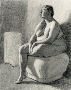 Human Figure Drawing Reference Original Drawing Nude Female Graphite Figure Drawing - Q - Figure Drawing Female, Figure Drawing Models, Figure Sketching, Figure Drawing Reference, Figure Drawings, Anatomy Reference, Human Drawing, Drawing Poses, Life Drawing