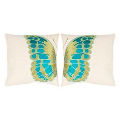 butterfly pillows...lg. print fabric & cut your subject in half.
