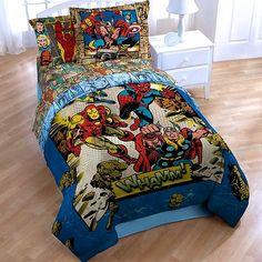 Marvel Comics Superheroes Full Comforter & 2 Sham Set (3 Piece Bedding) Spiderman Ironman Captain America Thor Whamm Marvel http://www.amazon.com/dp/B00LS0PW3G/ref=cm_sw_r_pi_dp_4W5eub0N5GYGV
