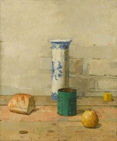 EUAN UGLOW Still Life with Delft Jar (1958)