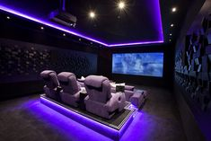 Home Theater Setup with Home Theater Seating Home Theater Room Design, Movie Theater Rooms, Home Cinema Room, Home Theater Furniture, Home Theater Decor, Best Home Theater, Home Theater Seating, Home Theatre, Theatre Rooms