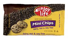Dairy-free, Soy-free and Gluten-free semi-sweet chocolate mini chips for baking
