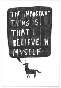 Believe als Premium Poster von typealive | JUNIQE